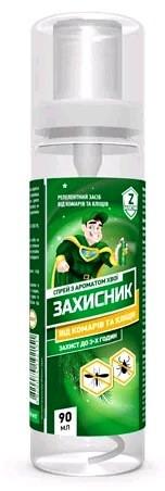 Репеллентное средство индивидуальной защиты Захисник 90 мл от тараканов и муравьев, Ukravit