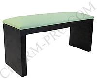 Маникюрная подставка для рук (Подлокотник) Зеленый на черных ножках