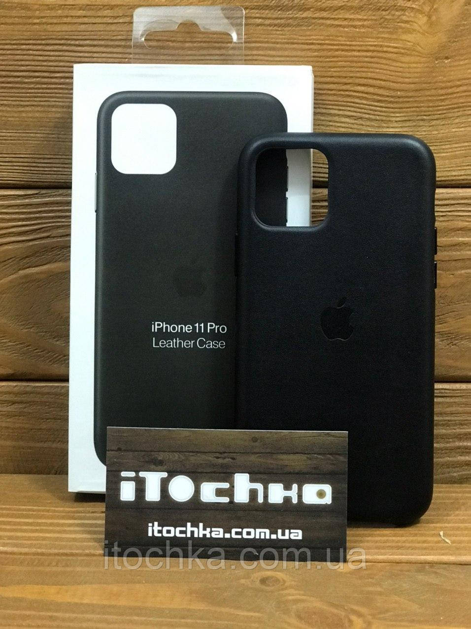 Чехол для iPhone Apple iPhone 11 Pro Leather Case Black