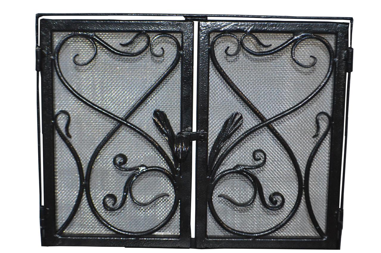 Кованая каминная решётка  с аркой