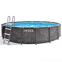 Каркасный бассейн Intex 26744 - 1 New, 549 x 122 см (лестница, подстилка,тент), фото 1