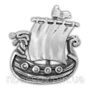 """0220019 71530 Амулет защитный Viking """"Драккар викингов"""" материал - олово"""