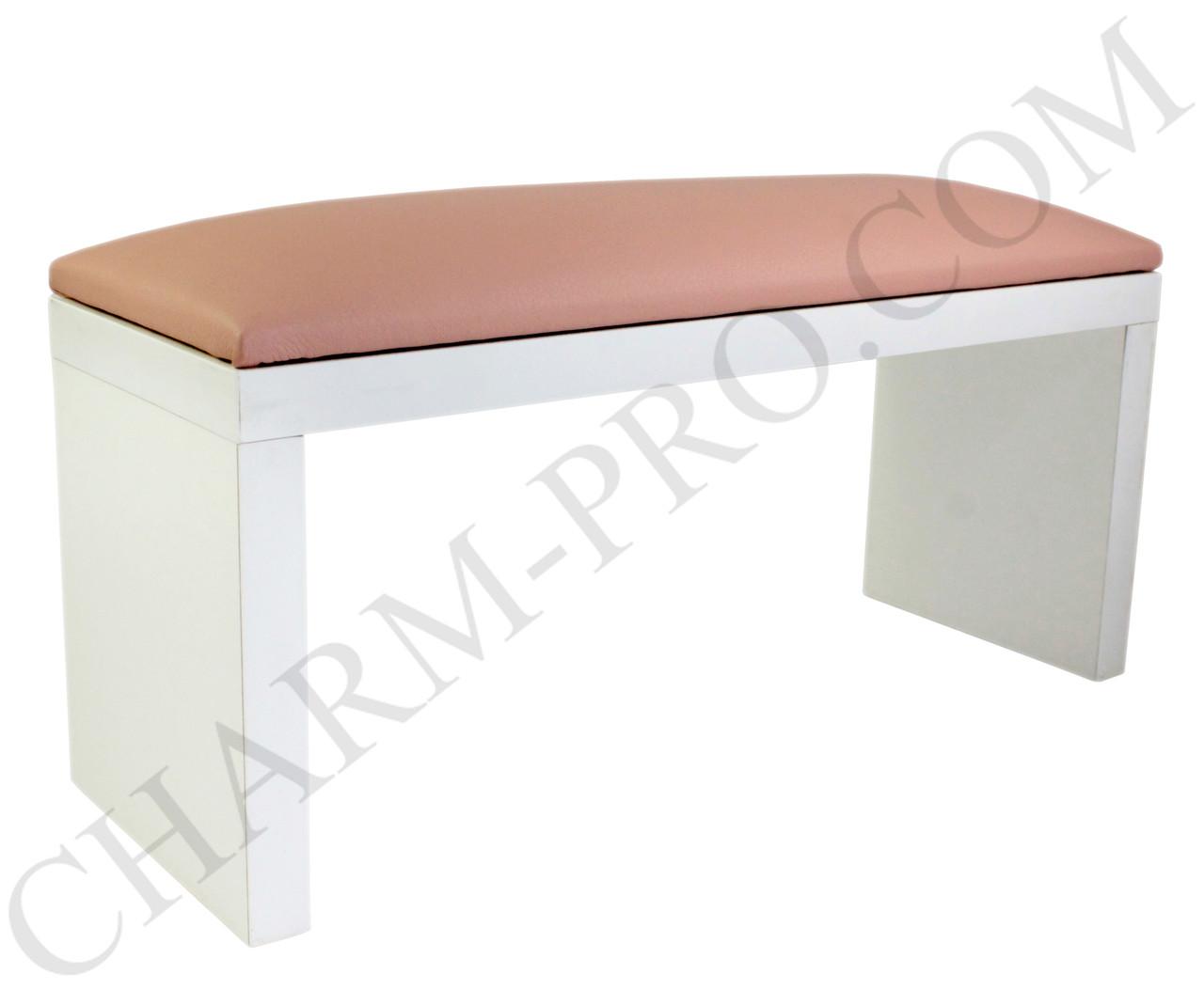 Маникюрная подставка для рук (Подлокотник) Розовая на белых ножках