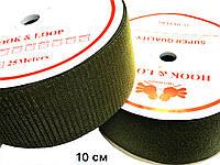 Липучка Хаки 100мм текстильная застежка комплект 25м