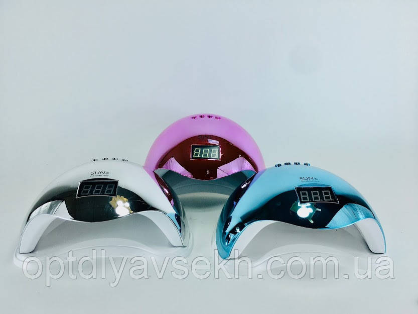 UV/LED лампа для манікюру і педикюру SUN 5 Chrom, 48 Вт.