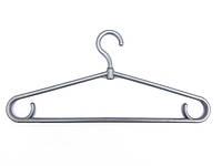 Вешалки плечики тремпеля пластмассовые толстая серая  40 см для одежды