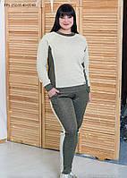 / Размер 52,54,56,58 / Женский спортивный костюм из трикотажа с люрексом