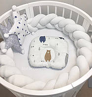Бортик косичка в детскую кроватку