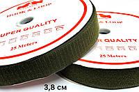 Липучка Хаки 38мм текстильная застежка комплект 25м