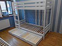 Кровать деревянная детская двухэтажная Ягнята 2 (200х90), фото 1