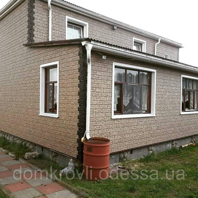 Цокольный Сайдинг Stone House Стоун-Хаус Сланец Бежевый - фото 5