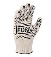 Перчатки трикотажные рабочие с ПВХ точкой FORA, фото 1
