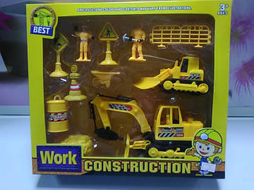 Игровой набор Work Konstruction строительная техника