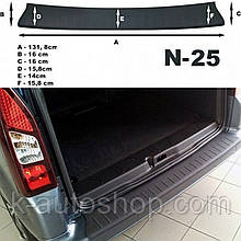 Пластикова захисна накладка на задній бампер для Citroen Berlingo II B9 2008-2018