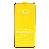 Защитное стекло 9D для iPhone Xr / iPhone 11 - Черный