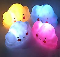 """Декоративный LED светильник ночник """"Тучка"""" №8019 (8,5*14см) 3цв. гол,роз,бел., в коробке"""