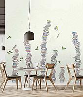 Дизайнерские фотообои для кофейни, ресторана, кухни Tea time 150 см х 150 см