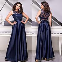 """Випускне атласне, вечірній максі плаття розмір L """"Мікадо"""", фото 1"""