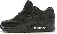 Женские кроссовки Nike Air Max 90 Premium Black Crocodile, фото 1