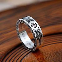 Мужское серебряное большое кольцо Chrome Hearts 17 гр Меч
