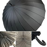 Механический мужской зонт трость на 24 спицы от MAX, черный, 611