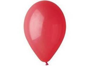 Воздушный шар без рисунка 30 см красный