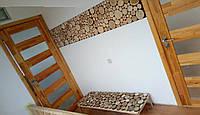 Декорирование картиной из срезов дерева