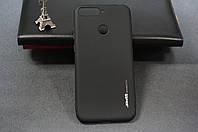 Чехол бампер силиконовый Huawei Honor 7C (AUM-L41) Хуавей цвет черный Soft-touch