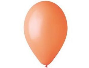 Воздушный шар без рисунка 30 см оранжевый