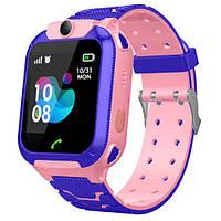 Smart часы детские с GPS TD07S, розовые