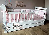 Побростковая односпальная кровать Bambi White