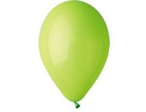 Воздушный шар без рисунка 13 см светло зеленый