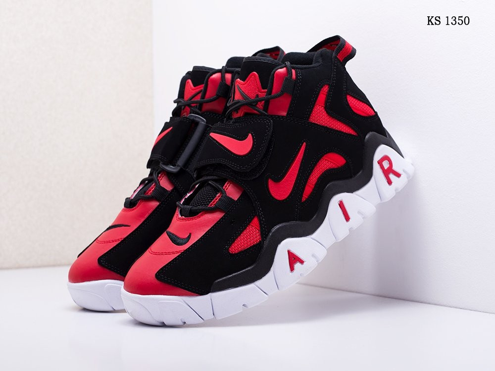 Мужские кроссовки Nike Air Barrage Mid, черные с красным /  чоловічі кросівки Найк (Топ реплика ААА+)