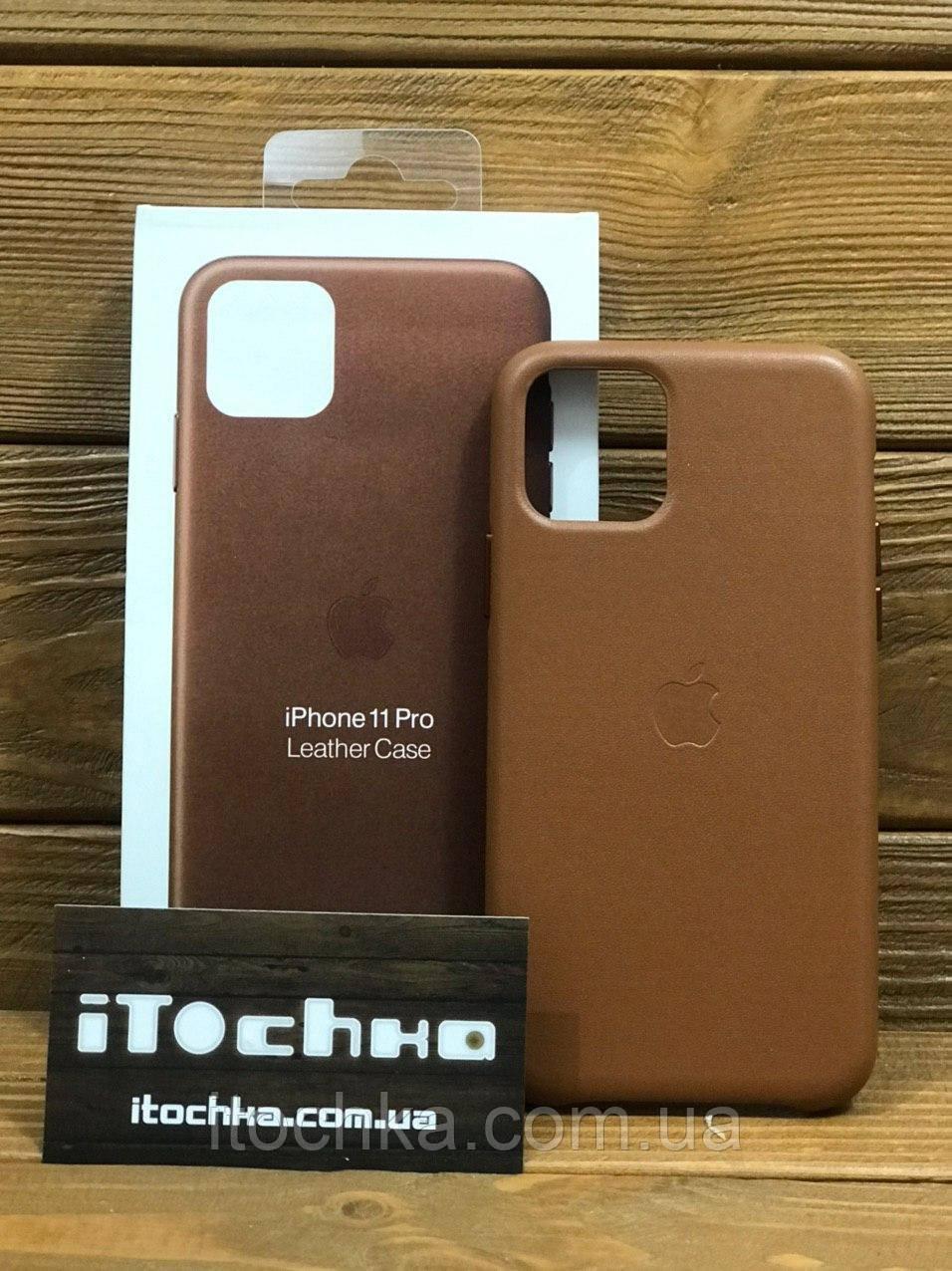 Чохол для iPhone Apple iPhone 11 Pro Leather Case Saddle Brown
