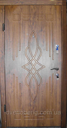 Входная дверь модель П4-296 светлый орех, фото 2