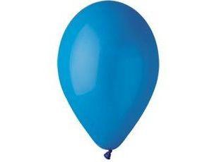 Воздушный шар без рисунка 13 см синий