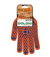 Перчатки рабочие Doloni с ПВХ 2-х стороняя (плотная), фото 1