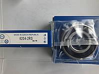 Подшипник ZKL 6204 2RS (20x47x14) однорядный, фото 1