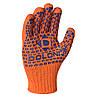 Перчатки рабочие двухсторонние c синей ПВХ точкой Doloni Standart Plus оранжевые 584