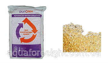 Катионит сильнокислотный Purolex PRC107E форма Na+  (аналог Dowex HCR S/S) (25л)