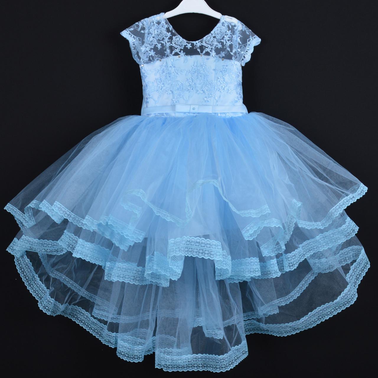 """Платье нарядное детское """"Арина"""". 5-7 лет. Голубое. Оптом и в розницу"""