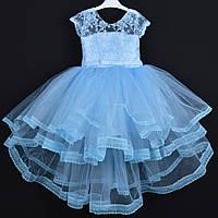 """Платье нарядное детское """"Арина"""". 5-7 лет. Голубое. Оптом и в розницу, фото 1"""