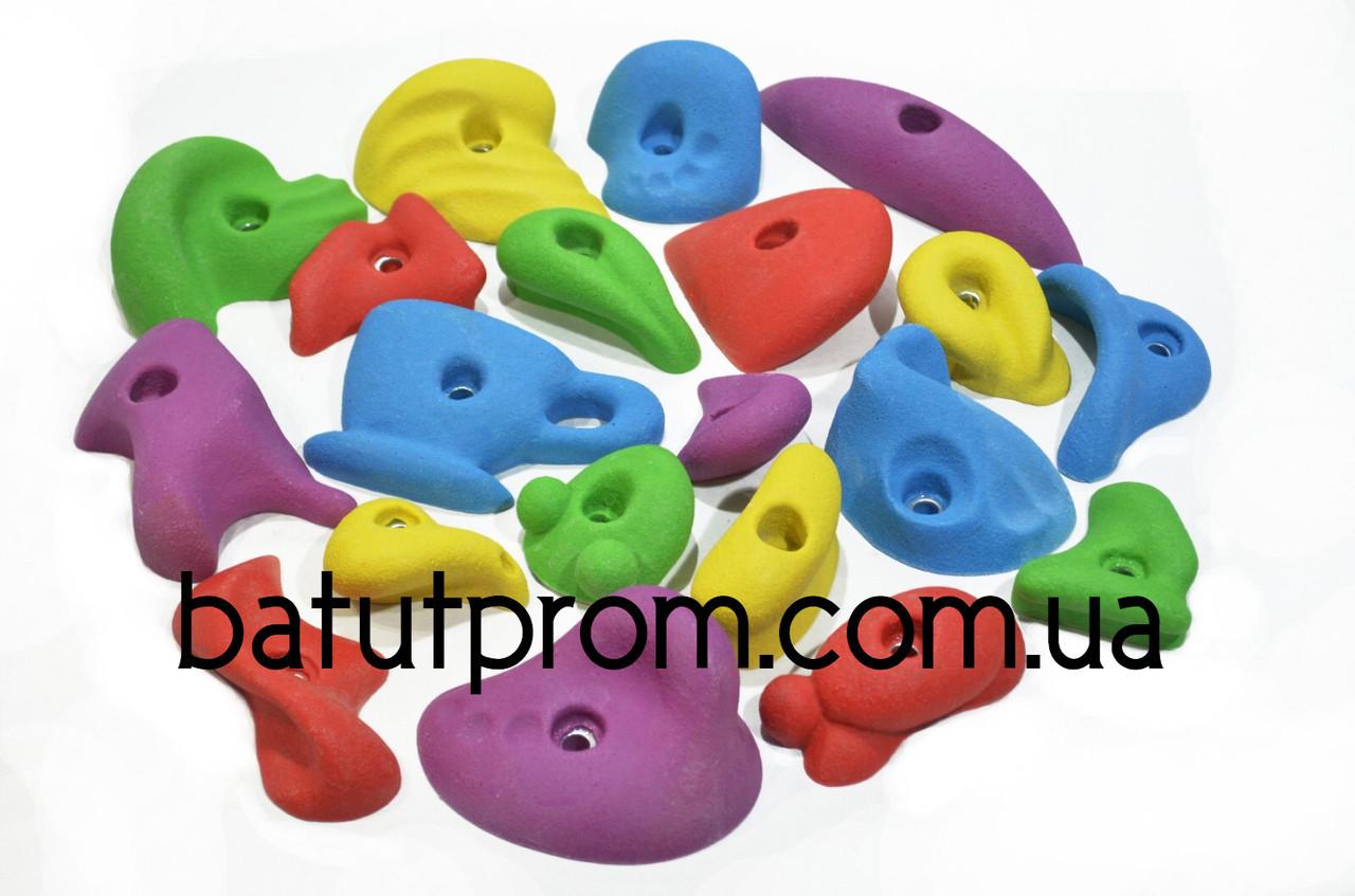Комплект зацепов для скалодрома разноцветный - 54 штуки