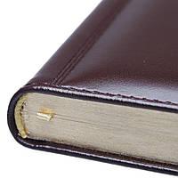 Ежедневник из натуральной кожи трёх цветов от Lediberg, Италия, с золотым срезом, под тиснение логотипов, фото 1
