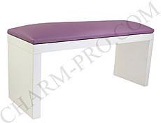 Маникюрная подставка для рук (Подлокотник) Фиолетовый на белых ножках
