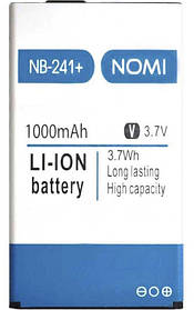 АКБ оригинал Nomi NB-241+ Premium Гарантия 12 месяцев