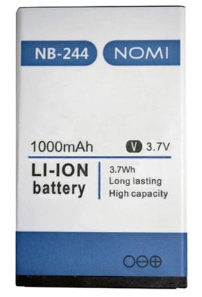 АКБ оригинал Nomi NB-244/i244 Premium Гарантия 12 месяцев, фото 2