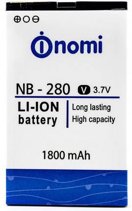 АКБ оригинал Nomi NB-280/i280 Гарантия 12 месяцев, фото 2