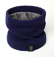 Шарф-хомут, снуд, шарф-труба: Синий, мужской/женский