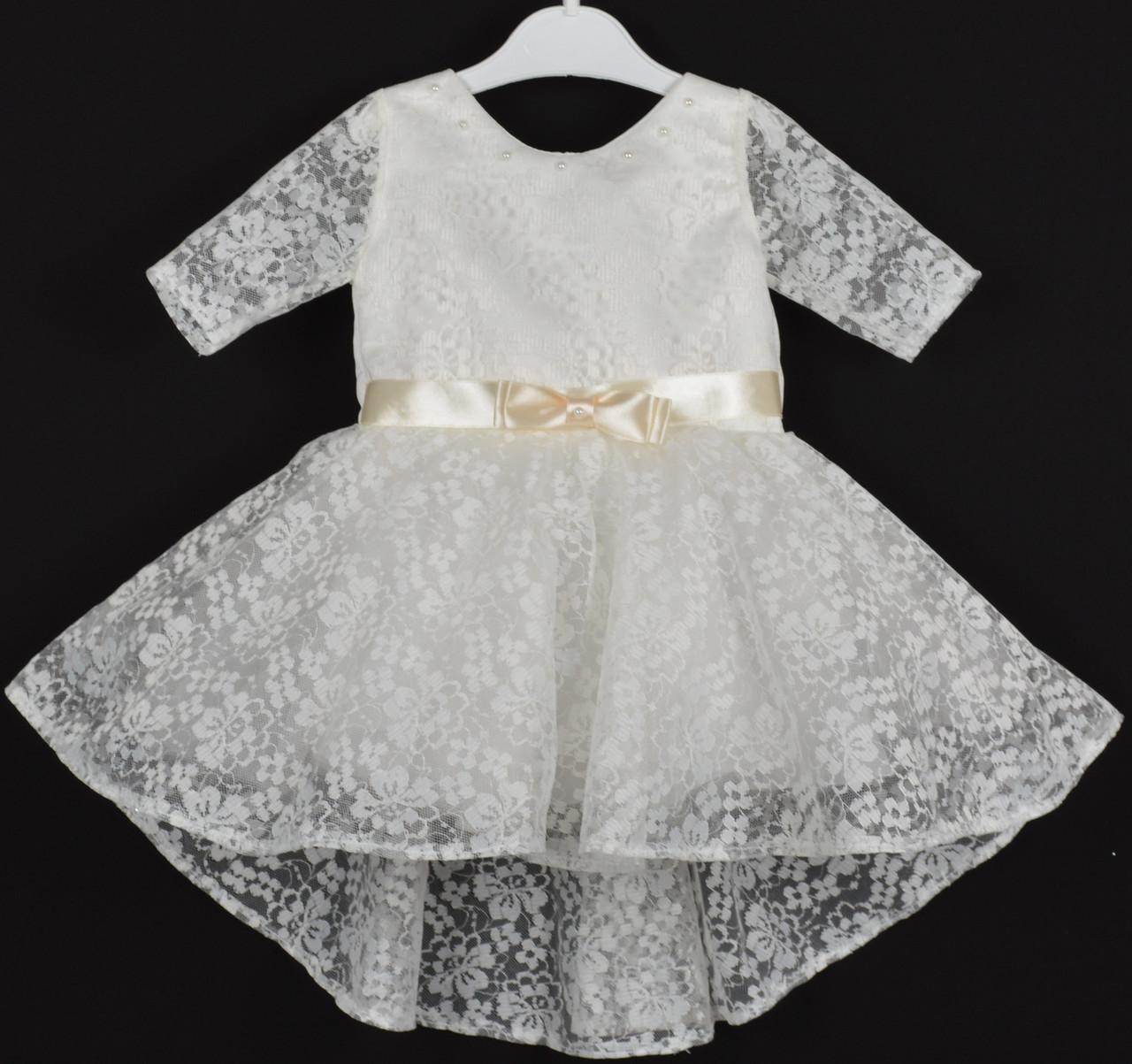"""Платье нарядное детское """"Эльза"""" 1.5-2 года. Молочное. Оптом и в розницу"""